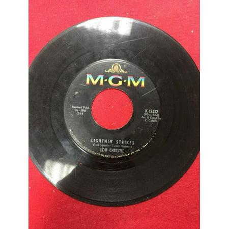 LOU CHRISTIE CRYIN IN THE STREETS/LIGHTIN STRIKES 45 RPM RECORD - Custom 45 Records