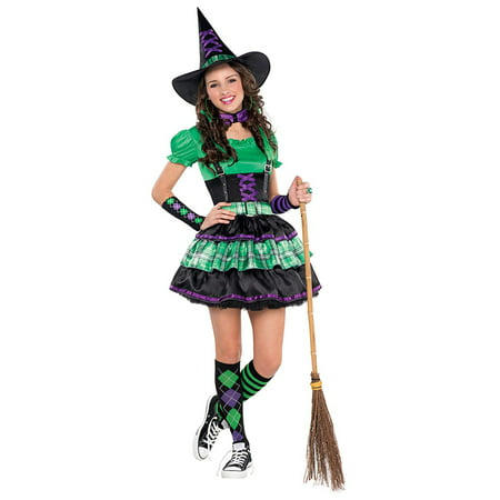 Teen Girls Wicked Cool Witch Halloween Costume | Junior Size Medium (7-9) - Cool Halloween Horderves