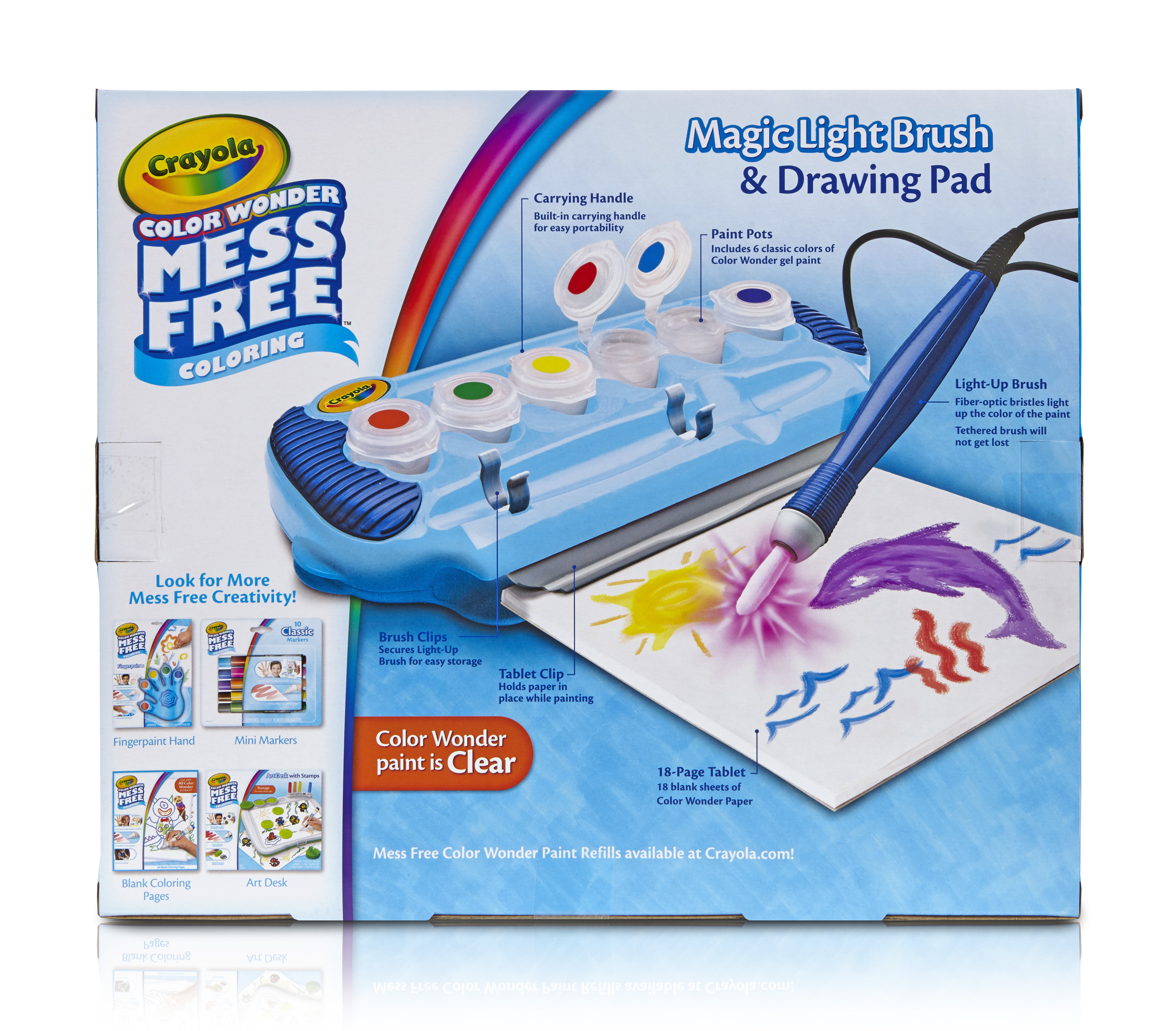 Crayola Color Wonder Magic Light Brush & Drawing Pad, Mess Free Painting, Gift by Crayola