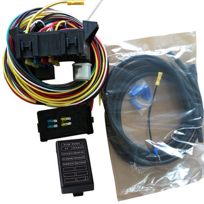 NEW 8 CIRCUIT BASIC WIRE KIT SMALL WIRING HARNESS RAT STREET ROD SAND CAR