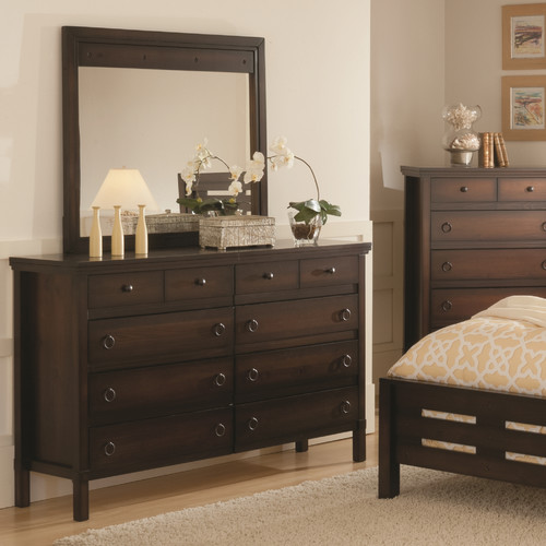 Wildon Home  Hudson Valley 8 Drawer Dresser with Mirror