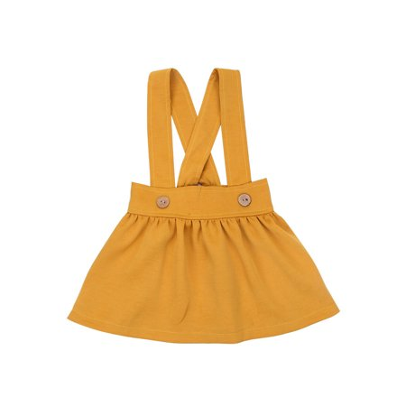 Hirigin Kid Baby Girls Cotton Overalls Jumper Dress Suspender Tutu Mini Skirt ()