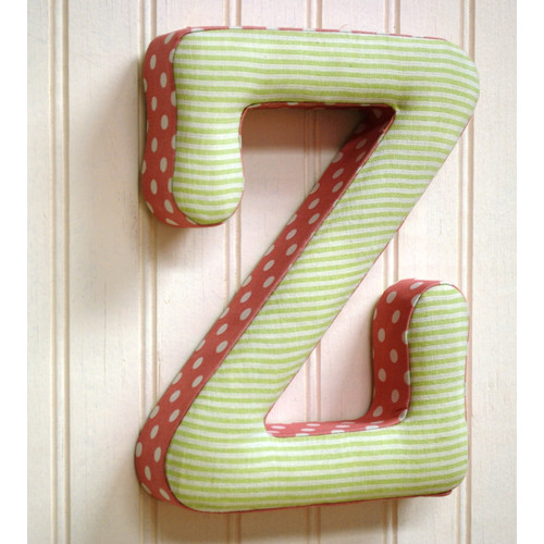 New Arrivals ''z'' Fabric Letter in Pink / Green