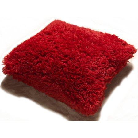 Red Ring Pillow (Kashi Home PV Fur Decorative Pillow)