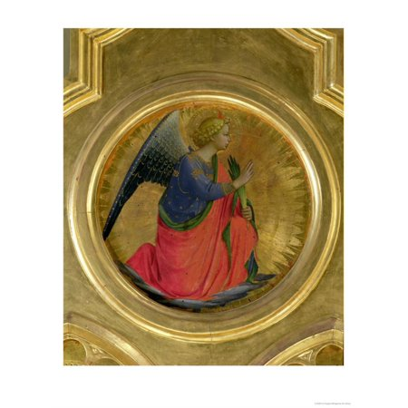 The Angel of the Annunciation, Altarpiece, Church of San Domenico in Perugia Print Wall Art By Fra Angelico