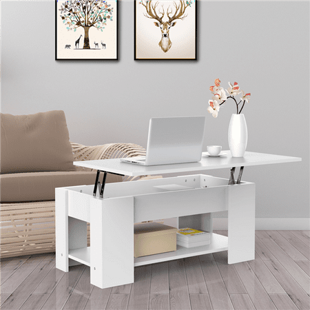 Superb Yaheetech Lift Up Top Coffee Table With Storage Shelf Modern Occasional Table White Ibusinesslaw Wood Chair Design Ideas Ibusinesslaworg