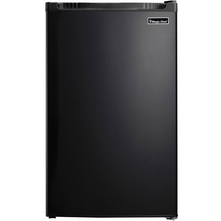 Magic Chef 4.4 cu ft Compact Single Door Refrigerator, Black