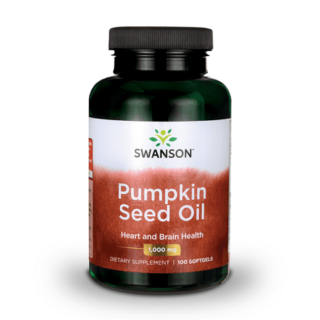 Swanson Pumpkin Seed Oil Softgels, 1,000 mg, 100 (Best Pumpkin Seed Oil Capsules)