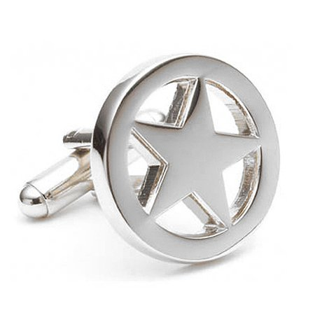 Cufflinks Inc. Men's Lone Star Cufflink, Silver, One Size