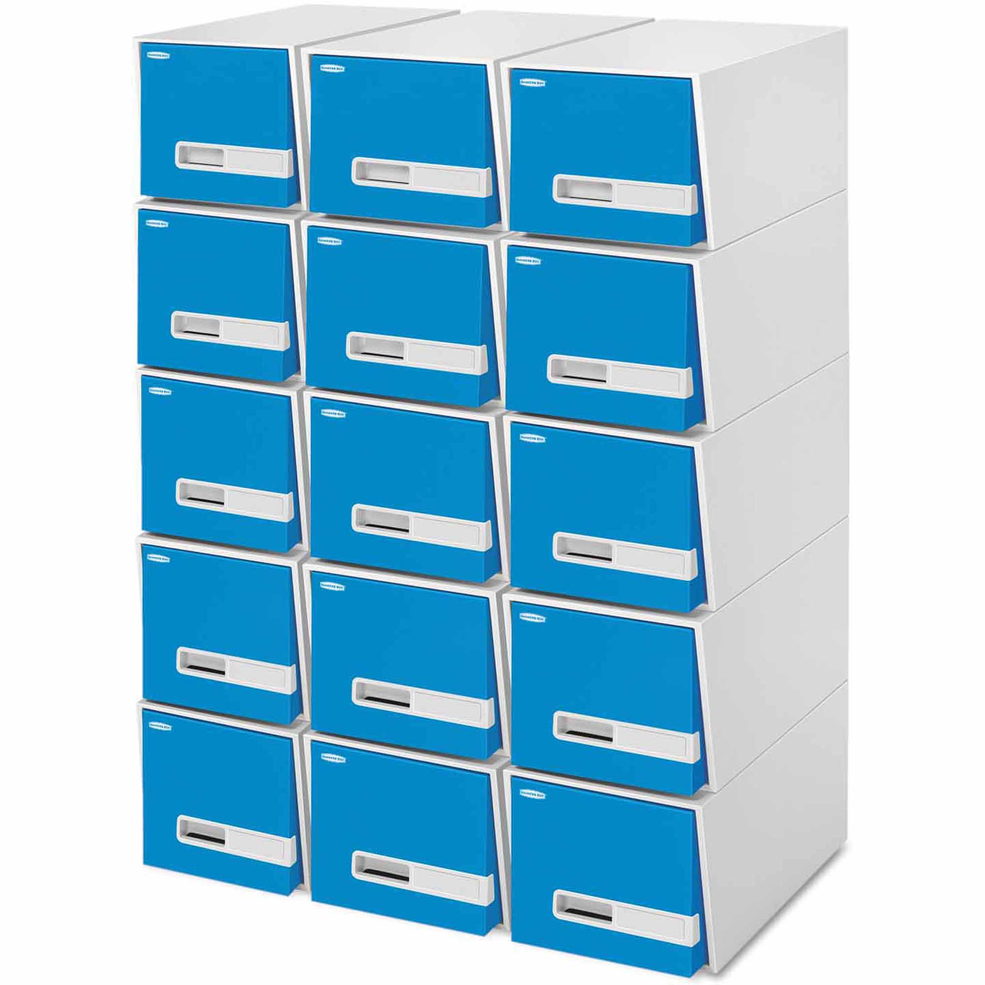 """Bankers Box Stor/Drawer Premier Extra Space Savings Storage Drawers, 24"""" Letter, Blue, 5-Count"""