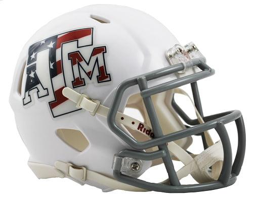 Texas A&M Aggies Speed Mini Helmet - Stars & Stripes