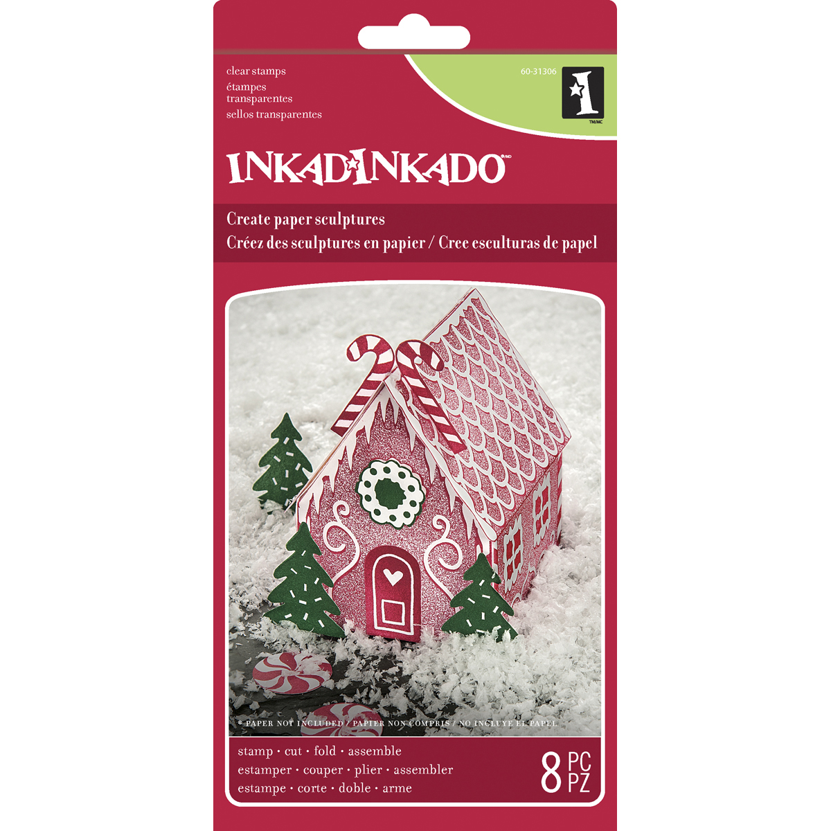 Inkadinkado Christmas Paper Sculpture-Gingerbread House