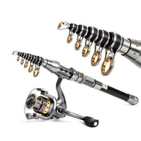 1.5M Telescopic Fishing Rod Short Mini Fish Hand Carbon Fiber Pole Portable