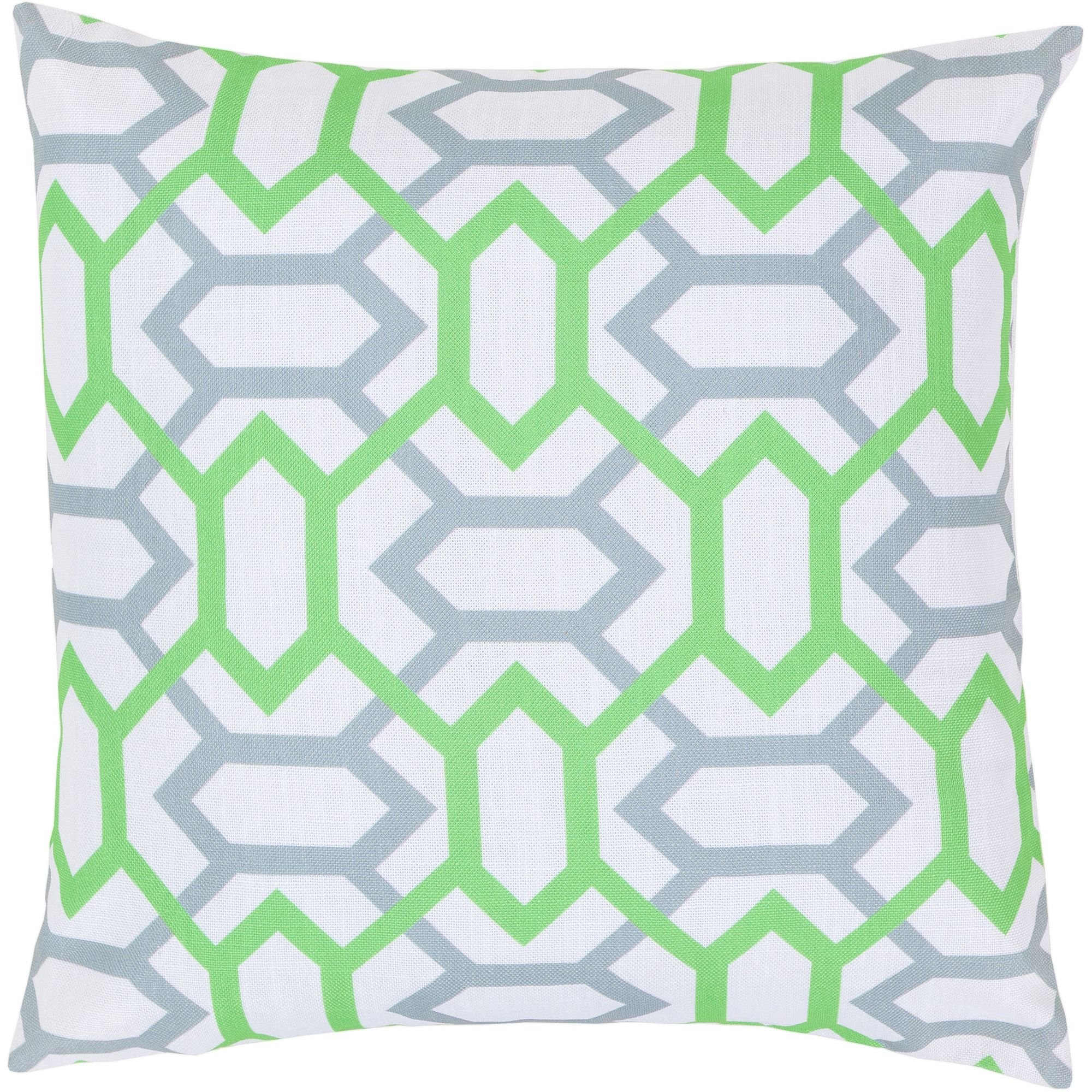 Art of Knot Carlisle Hand Crafted Gateway Pattern Decorative Pillow with Poly Filler, Gray