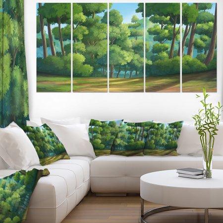 Green Jungle with Dense Trees - Oversized Landscape Wall Art Print - image 3 de 3