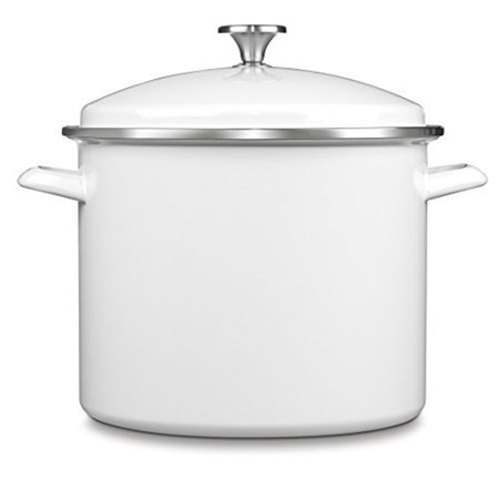 Cuisinart 12 Qt. Stockpot w/Cover - White Only $49.95