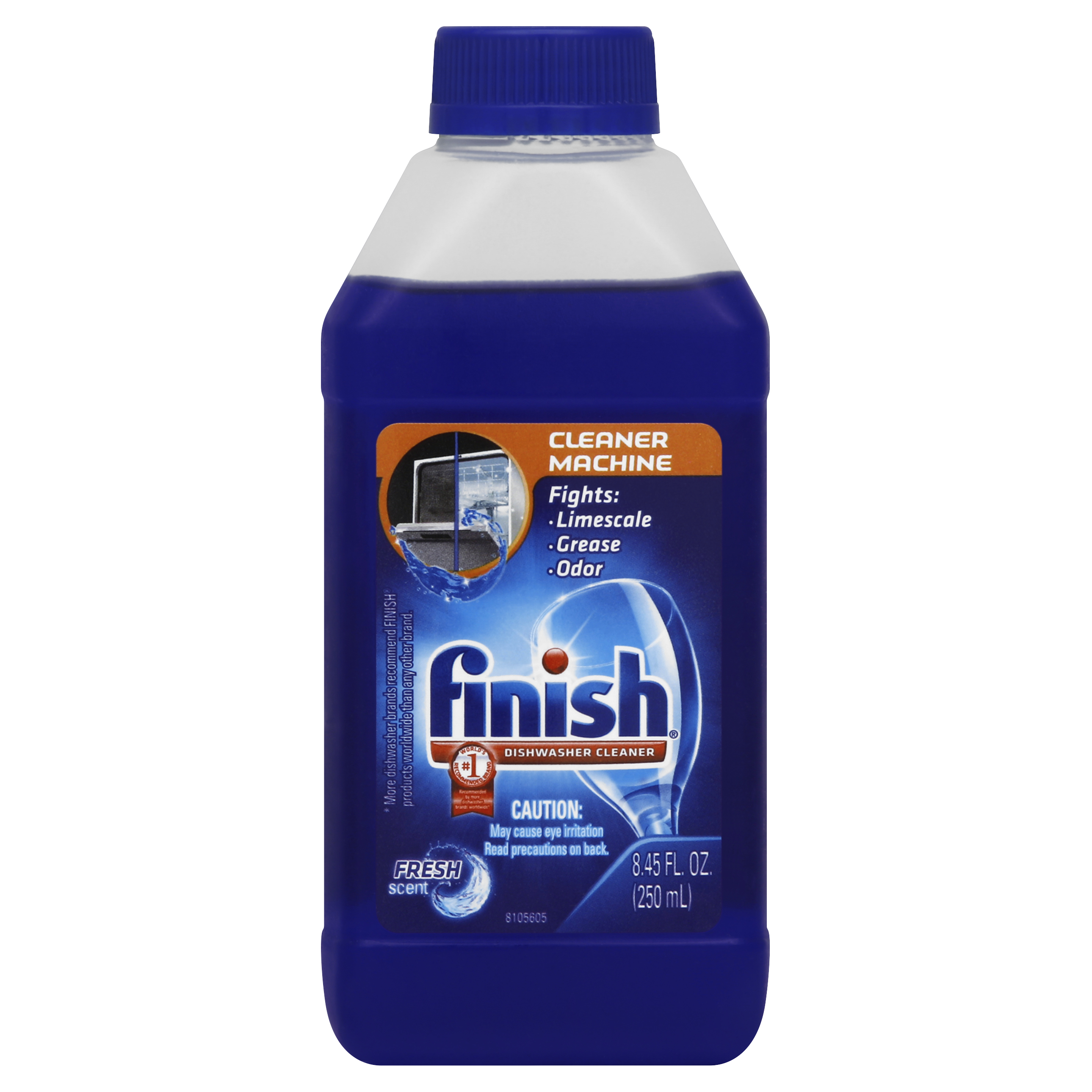 Finish Dishwasher Cleaner Solution Liquid, Liquid Fresh, 8.45 Ounces