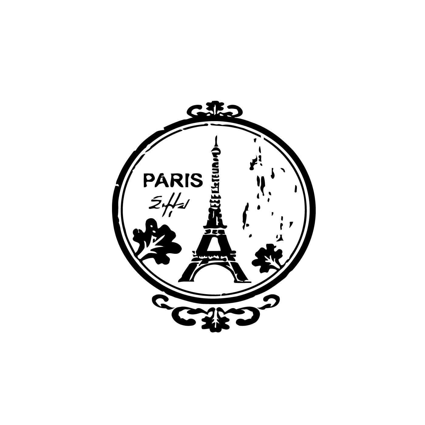 Vsgraphics llc Eiffel Tower Paris France Wall Vinyl Art