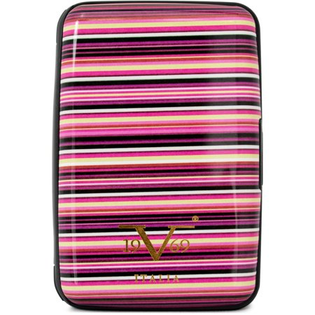 Stripe Card Holder (RFID Blocking Wallet, Secured Card Holder (Colorful Stripes))
