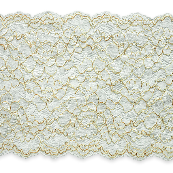 "Expo Int'l April 7"" Stretchable Polyester Chantilly Lace Trim by the yard"