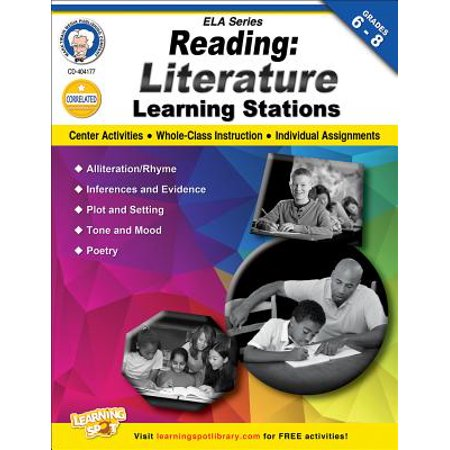 Reading, Grades 6 - 8 : Literature Learning Stations](Halloween Learning Stations)