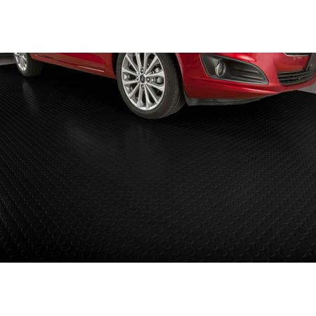 GFloor Mil Coin X Midnight Black Garage Flooring Cover - Polyvinyl garage floor covering