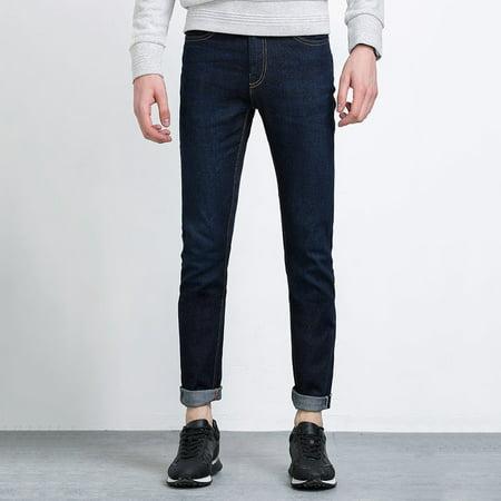 9c748420db4 LIGAO Comfortable Cotton Blending Men s Casual Jeans Full Length ...