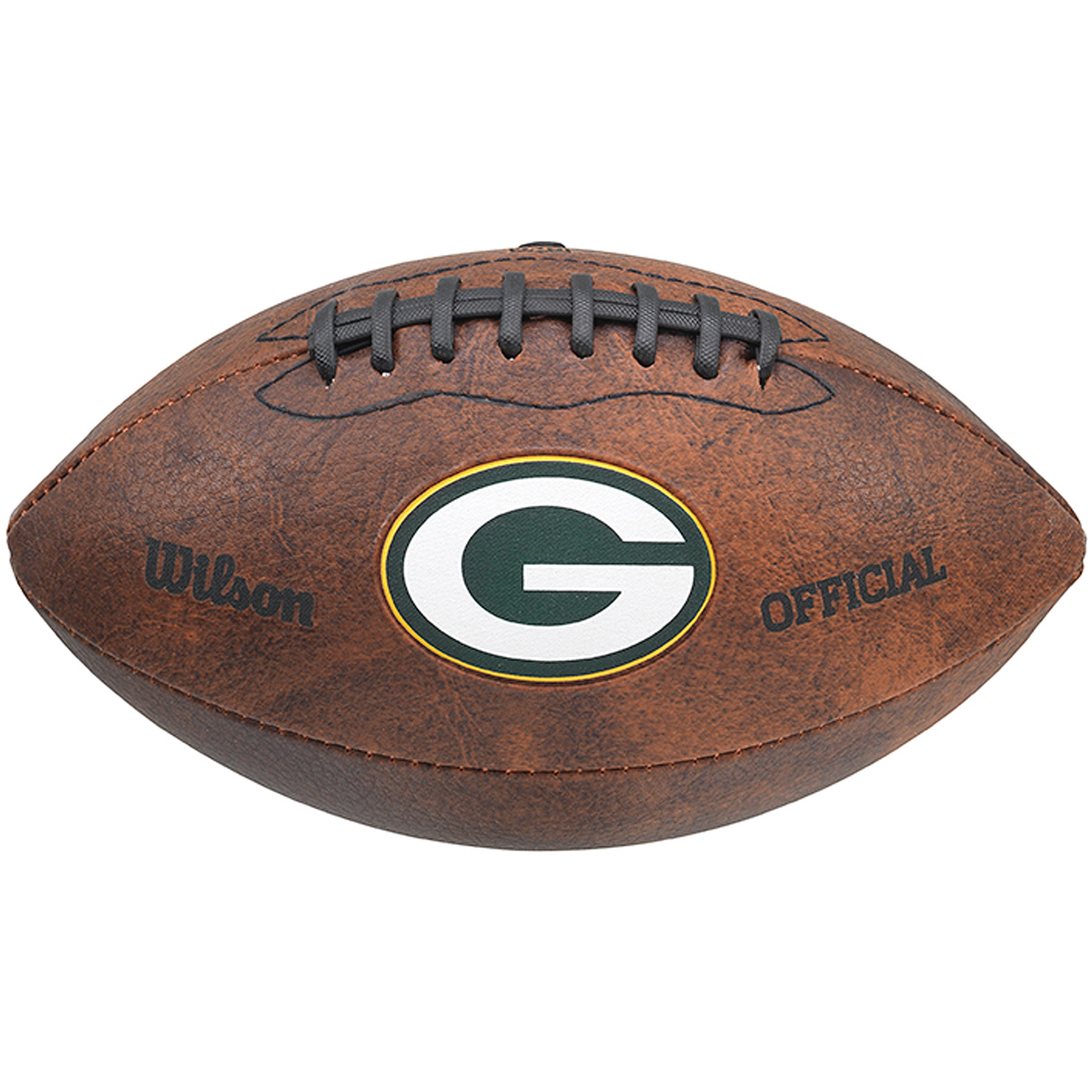 """Wilson NFL 9"""" Color Throwback Football, Green Bay Packers"""