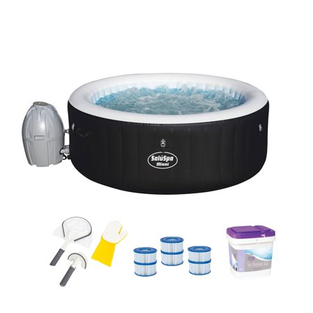 Bestway SaluSpa Spa Hot Tub with Filter Cartridges, Cleaning Tool, & Support