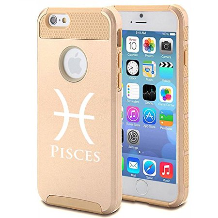 Apple Iphone 5C Shockproof Impact Hard Case Cover Horoscope Zodiac Birth Sign Pisces  Gold   Mip