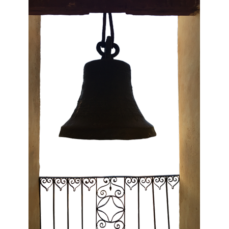 Canvas Print Bell Tower Grid Bell Railing Wrought Iron Bronze Stretched Canvas 10 x - 8 Wrought Iron Bell