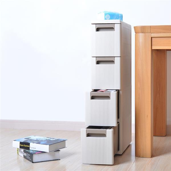 4-Tire Storage Organizer,Rolling Cart Organizer Box Unit ...
