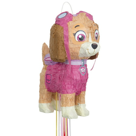 Skye PAW Patrol Pinata, Pull String, 16in - Winter Wonderland Pinata