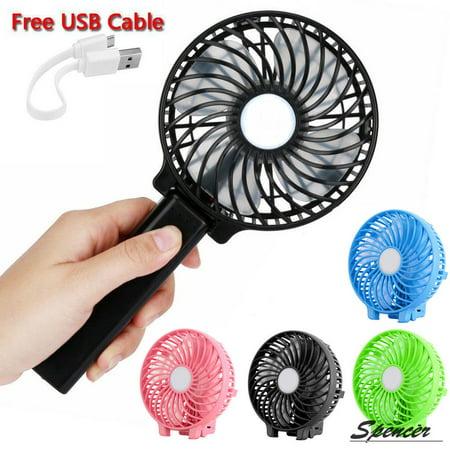 Spencer 1200mAh Battery Handheld Mini Fan Rechargeable Foldable USB Personal Cooling Fan
