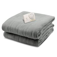Biddeford Blankets Comfort Knit Fleece Heated Electric Blanket, Twin, Gray