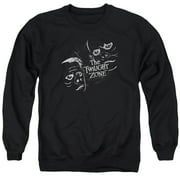Twilight Zone Strange Faces Mens Crewneck Sweatshirt