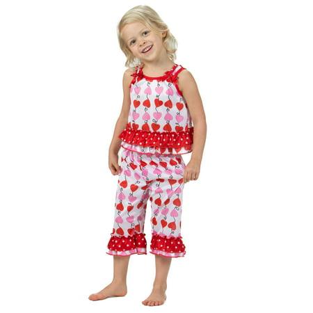 Laura Dare Heart Strings Bow Top Pajamas (6m-6x)
