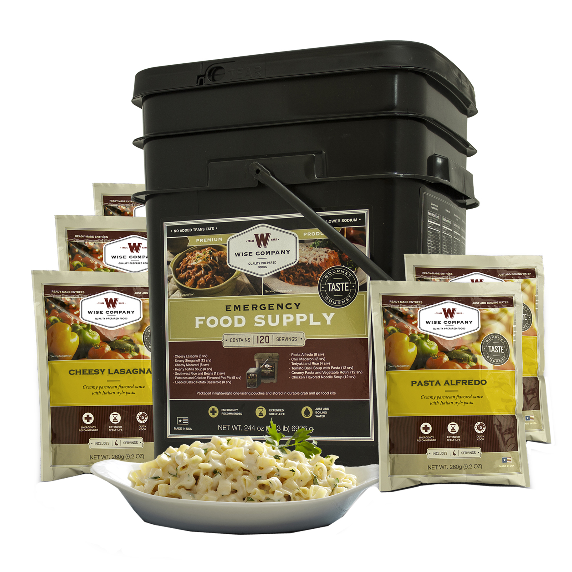 Wise Foods 120 Serving Entree Grab and Go Bucket