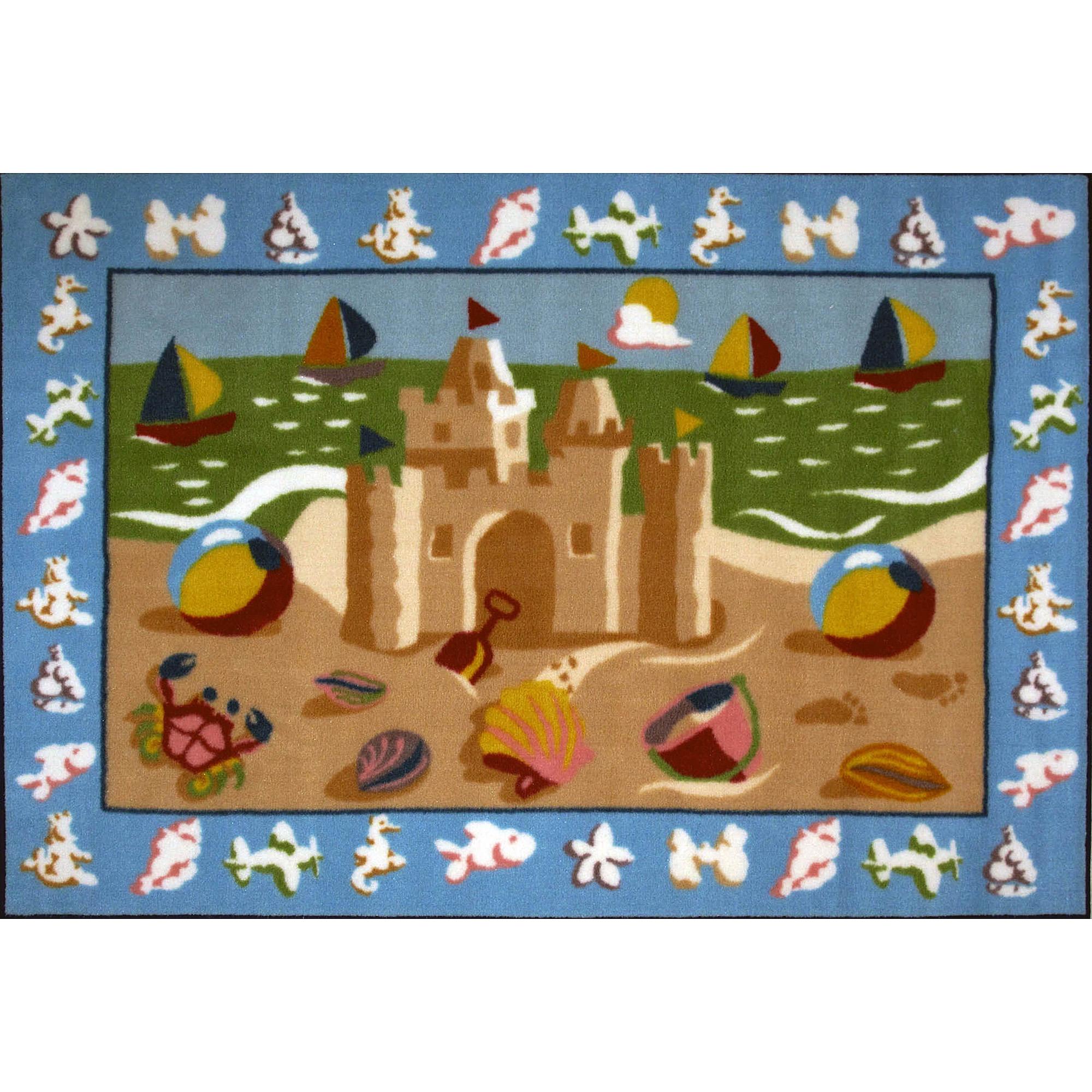 Fun Rugs Olive Kids Sand Castle Rug