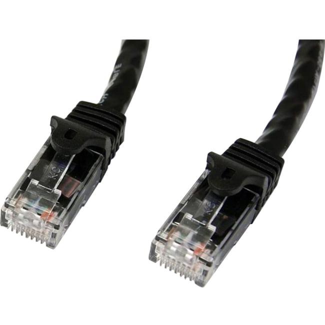StarTech 7 ft Black Snagless Cat6 UTP Patch Cable ETL Verified N6PATCH7BK