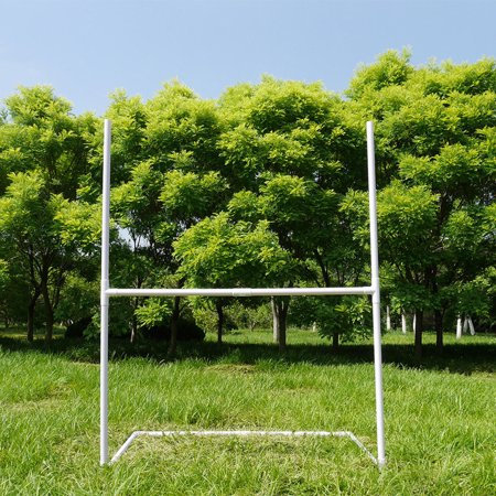 UBesGoo Portable American Football Goal, PVC Soccer Rugby Goal Post Training, with Ball Holder, for Sports Skill Training - Foot Ball Goal Post