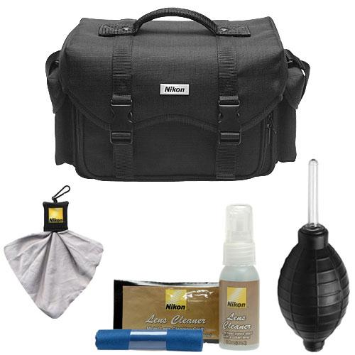 Nikon 5874 Bag Digital SLR Camera Case with DSLR Essentials Bundle for D3100, D3200, D3300, D5100, D5200, D5300, D7000, D7100, D610, D800, D810, D4s