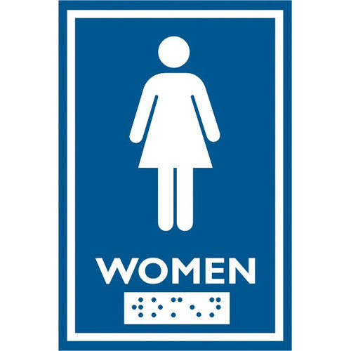 Frost Products Female Symbol Comes with Braille Emboss
