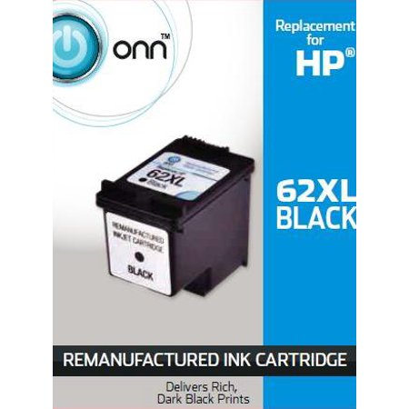 Onn Remanufactured HP 62XL Black Ink Cartridge (C2P05AN)