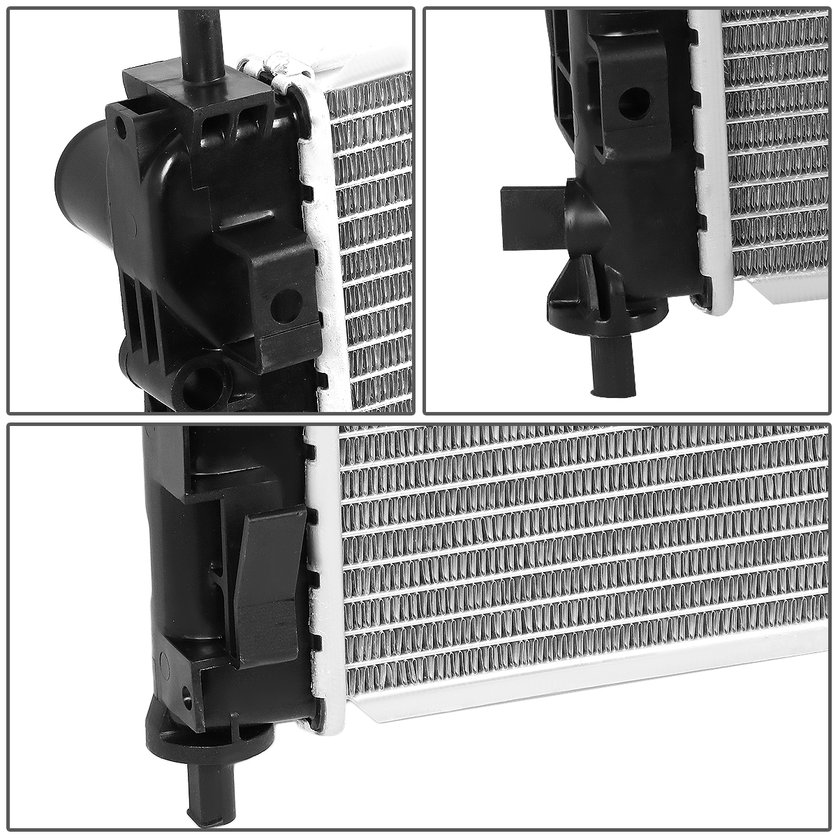 2951 Factory Style Aluminum Cooling Radiator for 07-16 Dodge Caliber//Avenger//Jeep Compass//Patriot//Chrysler 200 AT//MT