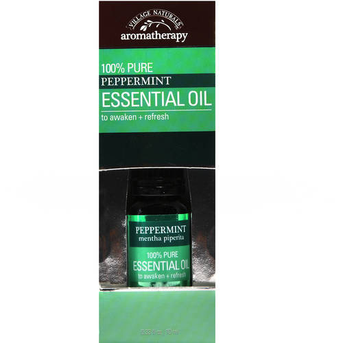 Village Naturals Aromatherapy 100% Pure Peppermint Essential Oil, .33 fl oz