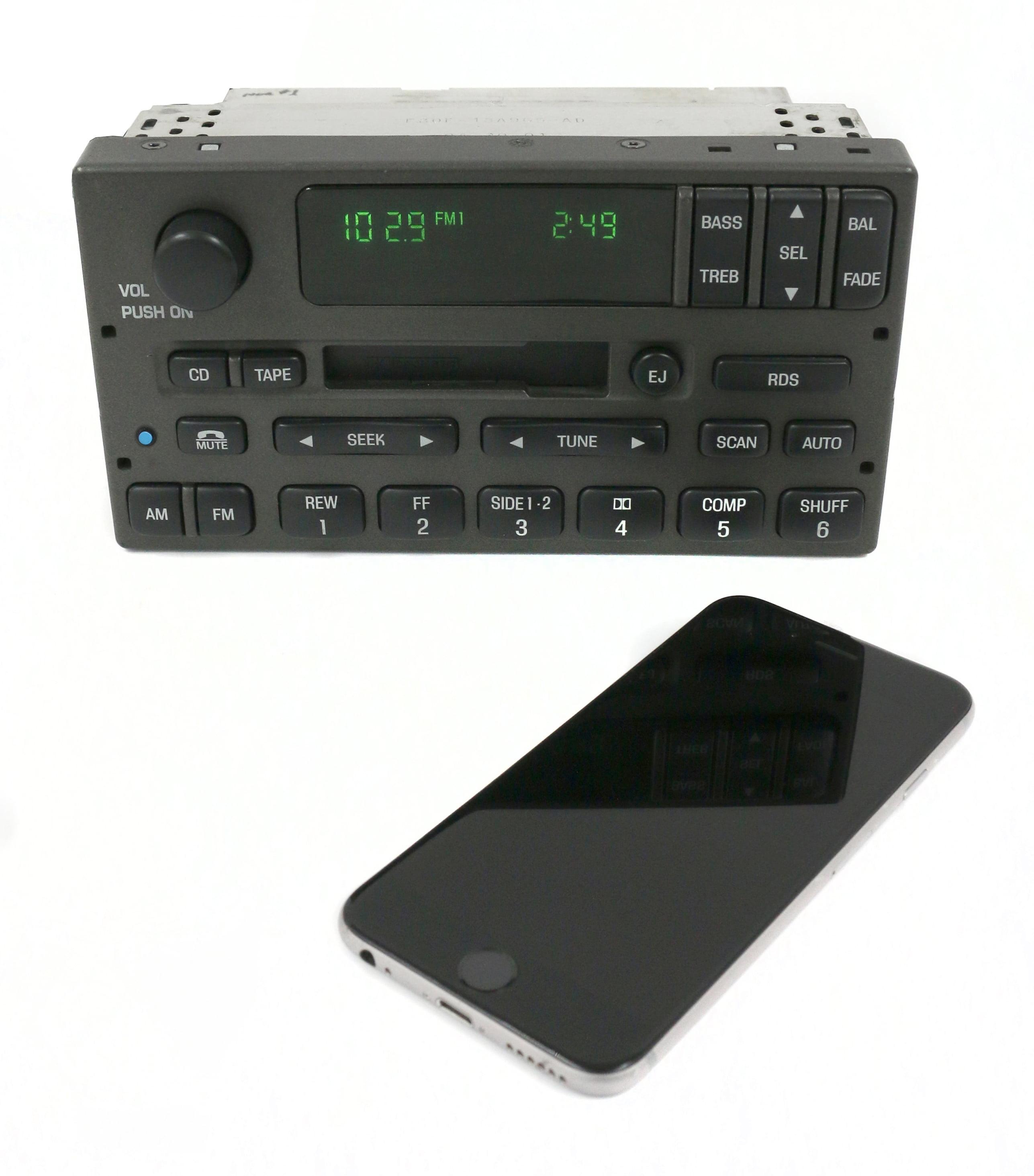 2001-02 Lincoln Town Car Radio Bluetooth AM FM Cassette Player 1W1F-18C870-DB Refurbished by Lincoln