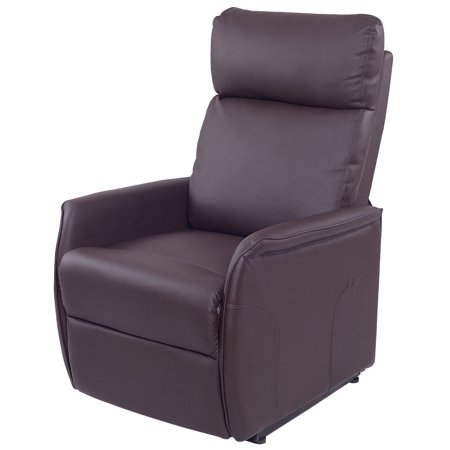Costway Pu Electric Lift Chair Recliner Reclining Sofa Lounge W Remote Controller