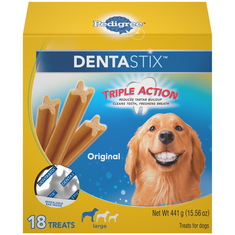 PEDIGREE DENTASTIX Large Dental Dog Treats Original, 15.6 oz. Pack (18 Treats)