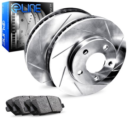 1983 1984 1985 1986 1987 1988 1989 Isuzu Impulse Rear eLine Slotted Brake Disc Rotors & Ceramic Brake Pad